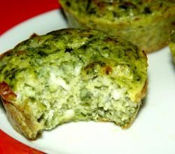 Molded Spinach Cottage Cheese Salad Recipe-I like all the ingredients-and obviously made in muffin tins-Cool !