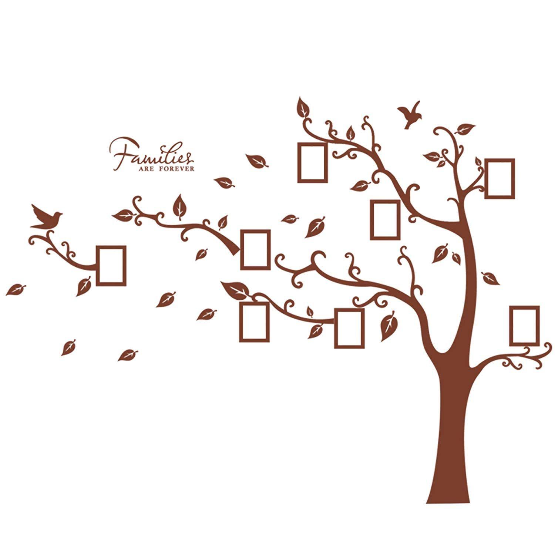 Geräumig Wandsticker Baum Dekoration Von Wandtattoo Wandbild Mit Großem Mit Bilderrahmen Am
