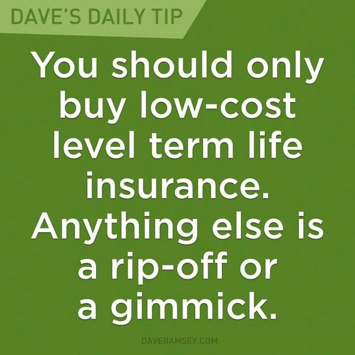 Term Life Insurance Budgeting Money Term Life Dave Ramsey
