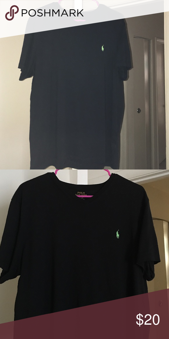Black Polo Teeshirt Black Polo shirt in good condition, only worn once, size large, no trades Polo by Ralph Lauren Tops Tees - Short Sleeve