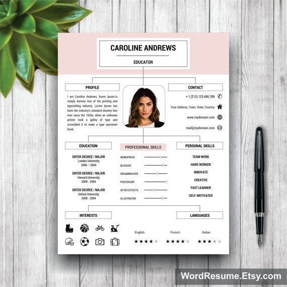 Cv Template Professional Resume Template Cover Letter And Etsy Cv Template Professional Curriculum Vitae Template Resume Template