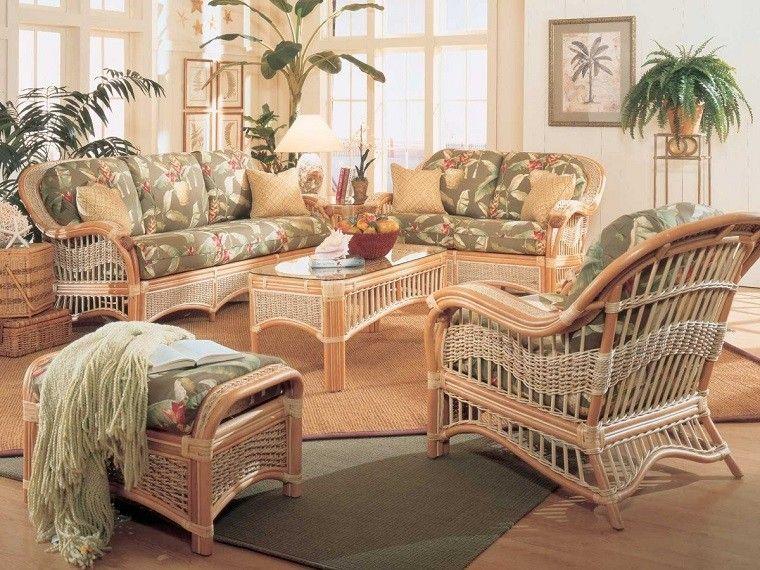Muebles mimbre dentro y fuera de la casa moderna | Mimbre, Casas ...
