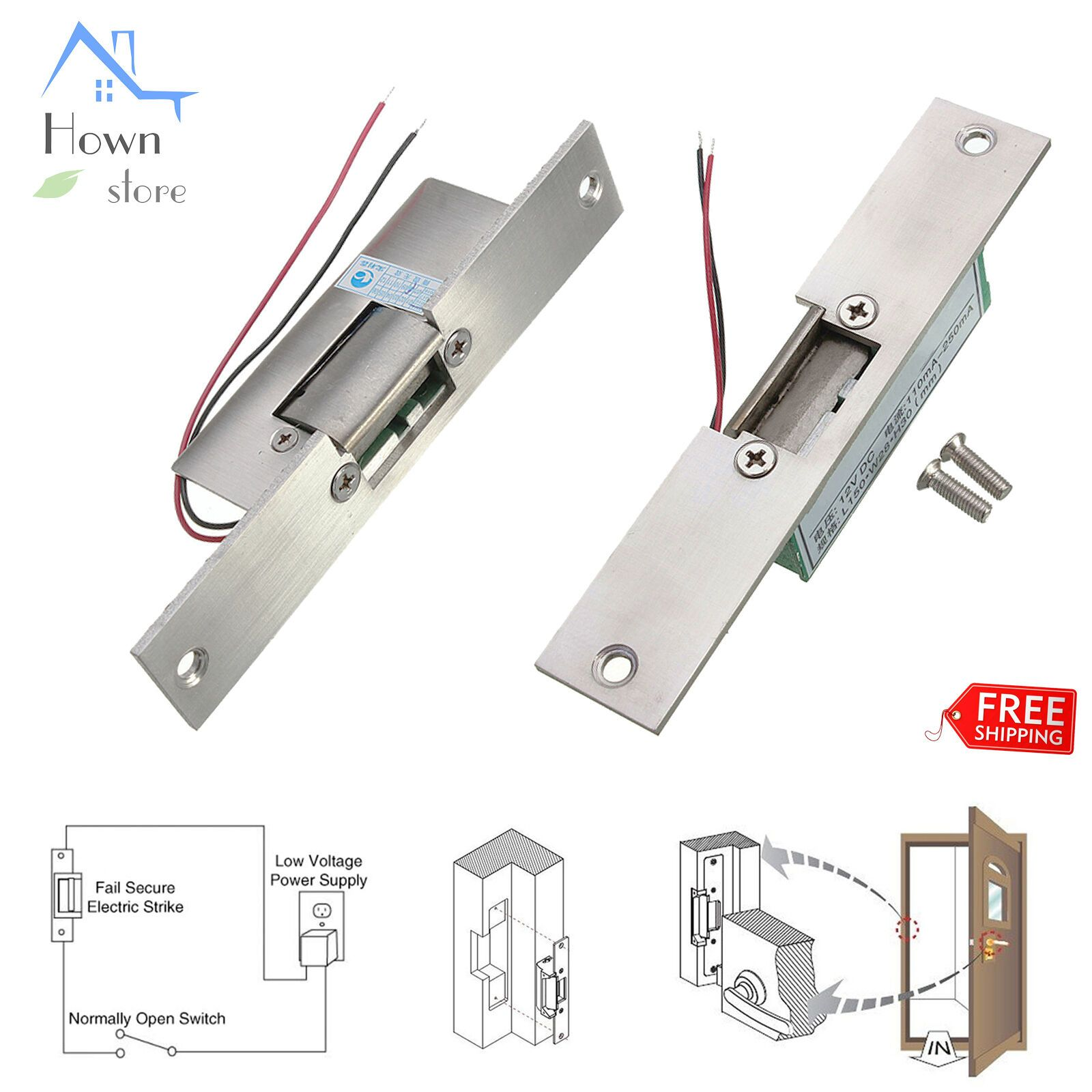 Door Access Control Electric Strike Lock Narrow Fail Safe Frame 12v Dc 0 2a In 2020 Access Control Smart Door Locks Pvc Door