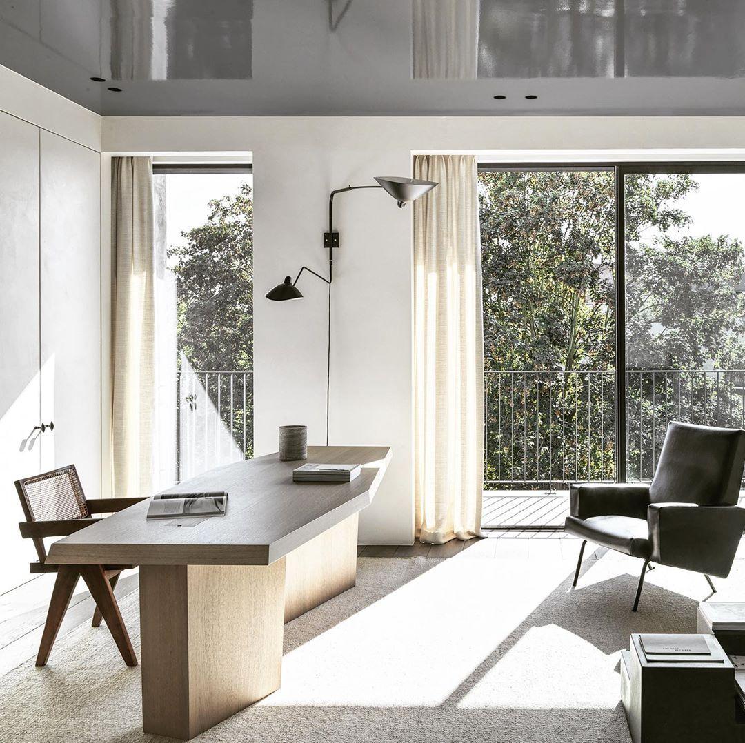 2 223 Likes 32 Comments Nicolas Schuybroek Nicolasschuybroek On Instagram Nwj House Office Antwerp Right A Jo In 2020 Desk Design Home Office Design Interior