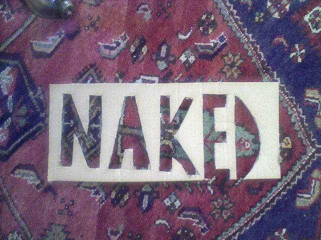 Naked sign DIY by nakedcomms cph, via Flickr