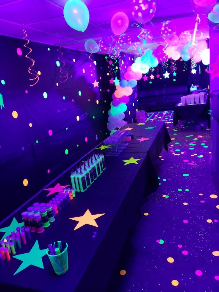 Neon / glow in the dark party #party  Glow birthday party, Glow