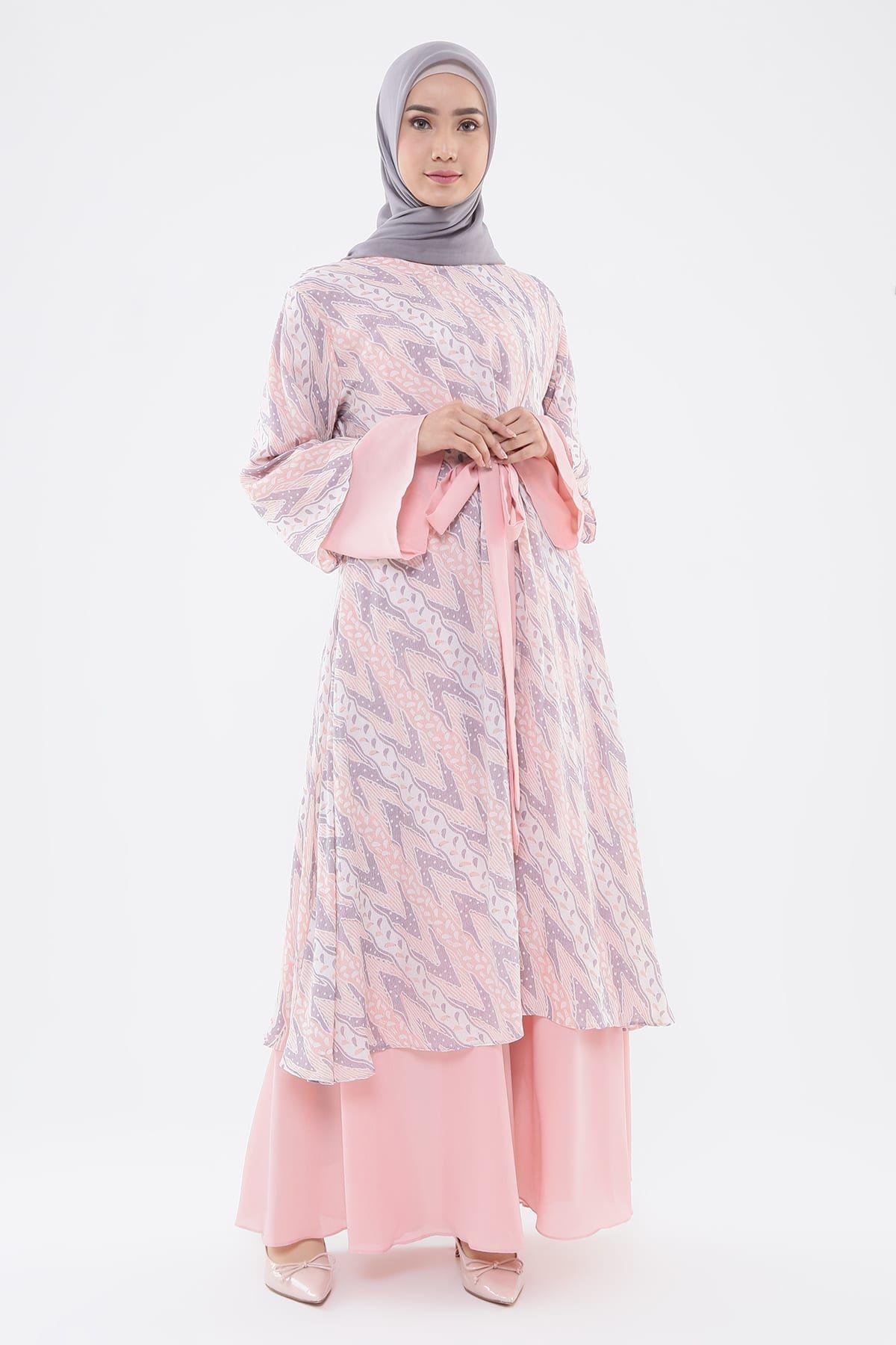 Shop Qonita Batik Gaun Kirani - Long Dress  HIJUP  Model pakaian