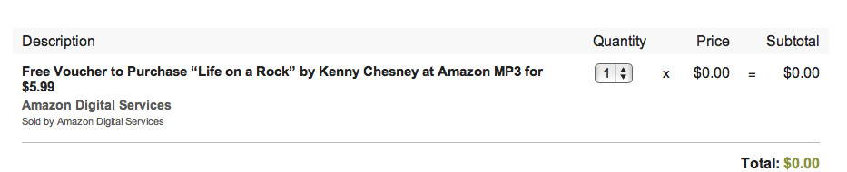 """FREE Voucher to Purchase Kenny Chesney's New Album """"Life on a Rock"""" for $5.99!"""