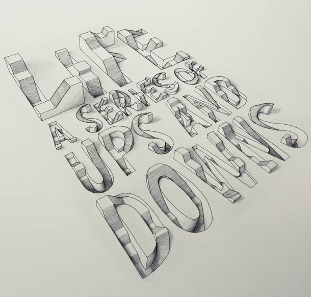 3D Typography – A new selection of the creations of Tolga Girgin #3dtypography