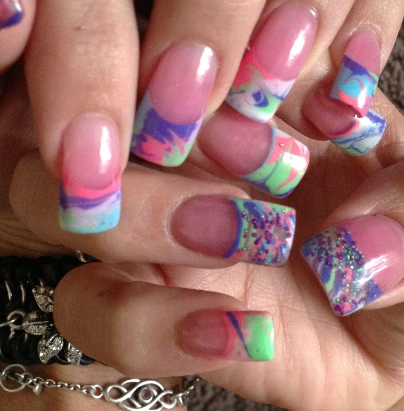 Glow in the dark , gel nails Nails, Gel nails, Nail designs