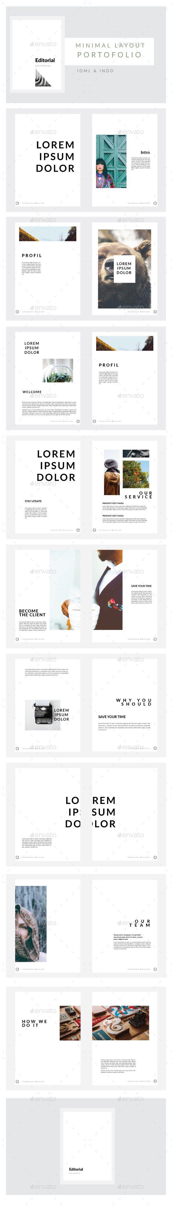Minimal Portofolio Layout Multipurpose — InDesign Template #booklet ...