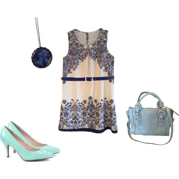 """Blue & Mint summer style"" by certainstyle on Polyvore"