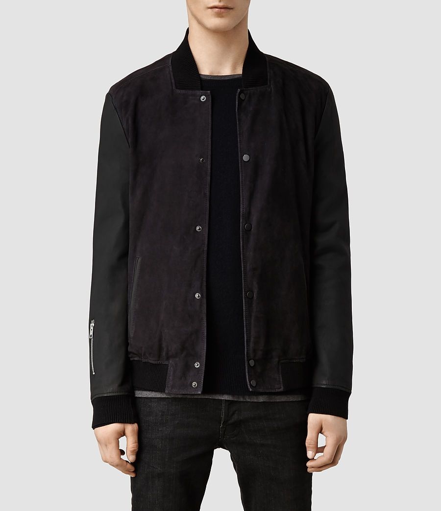 e9d087451a3 Men's Delta Leather Bomber Jacket (Mortar) - | ALLSAINTS | Jackets ...