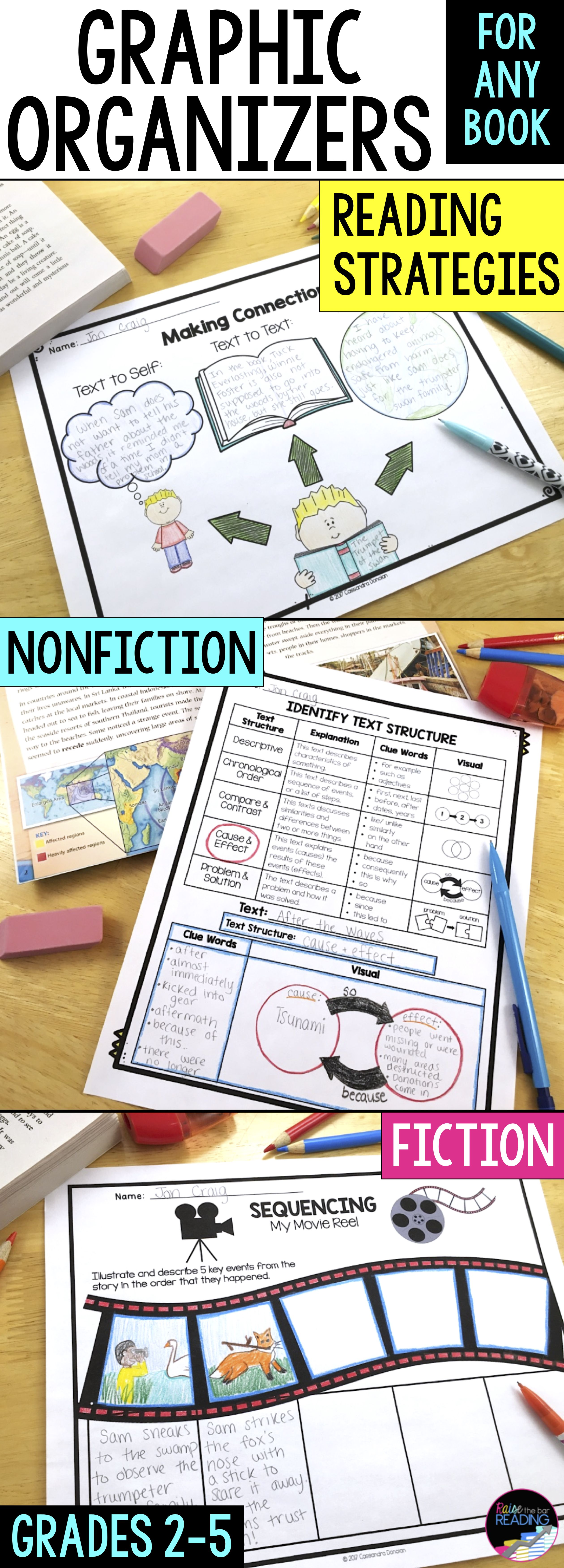 Reading Comprehension Graphic Organizers - Strategies, Fiction ...