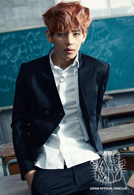 V taehyung KIM bts bangtan boys skool luv affair boy in luv MV photoshoot