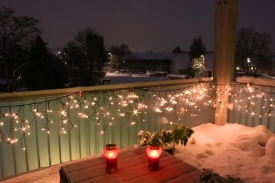 winter or summer it works  balcony decor christmas