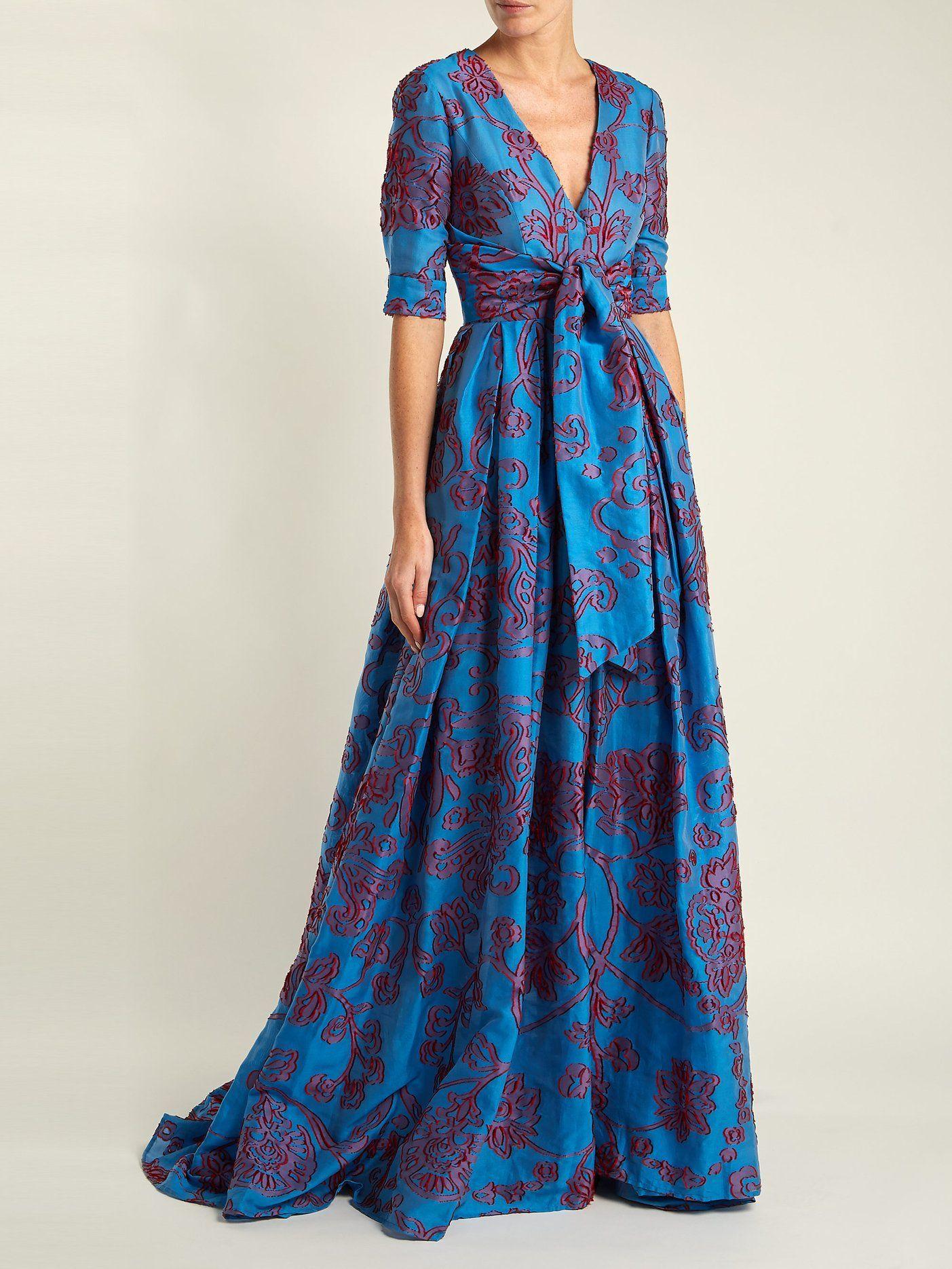 Knotted floral devoré gown  Carolina Herrera  MATCHESFASHION.COM