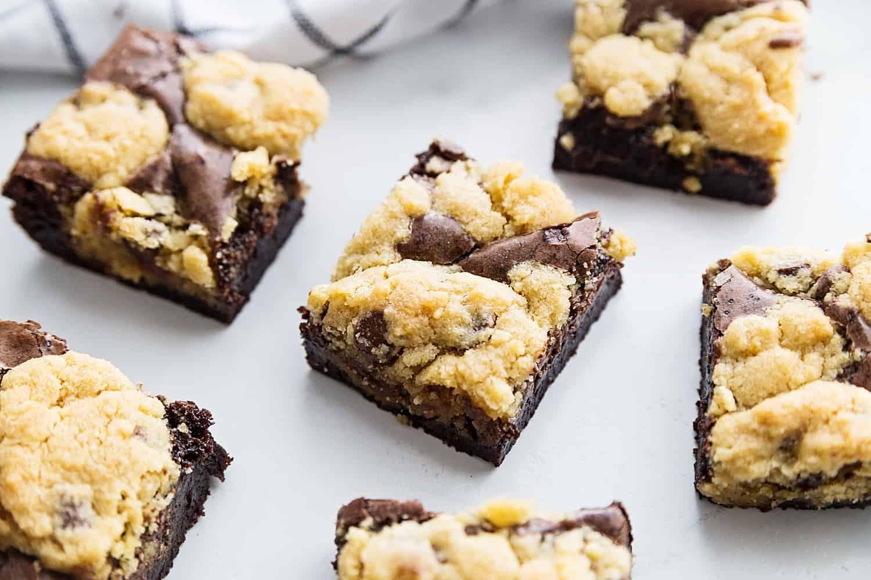 Brookies, Brownie Chocolate Chip Cookie Bars   Baker Bettie