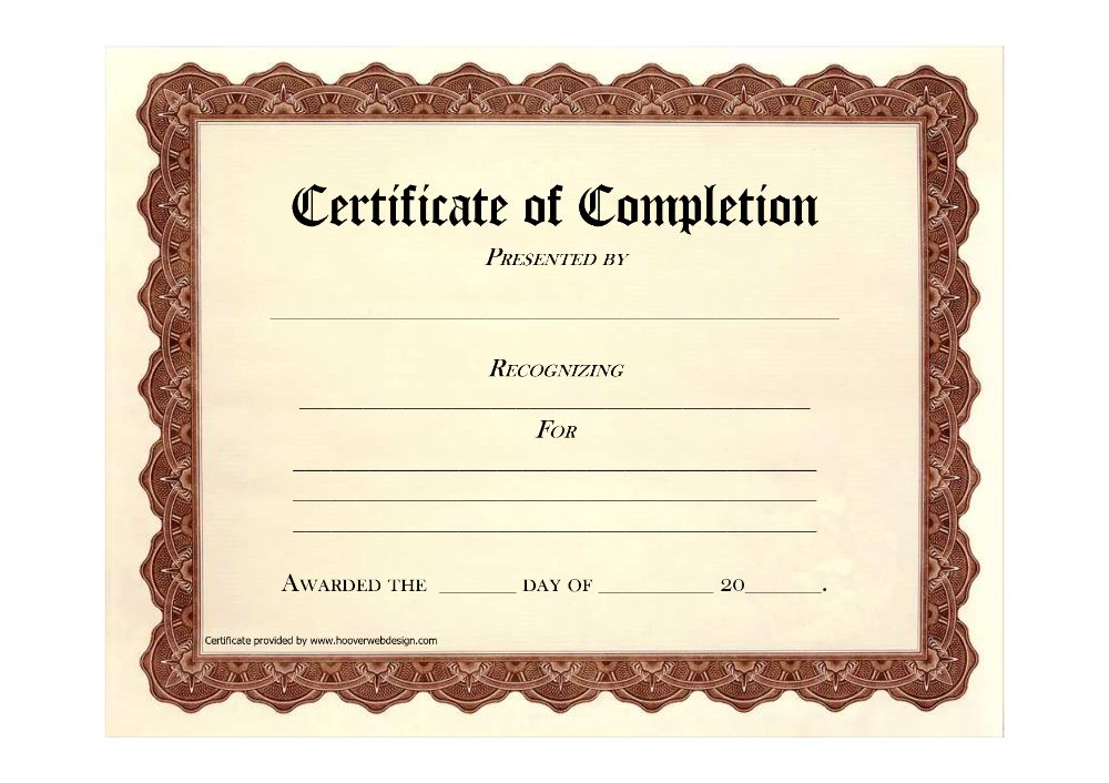 Certificate Of Completion Templates Free Download Images Inside Certificate Of Achievement Template Free Printable Certificate Templates Certificate Templates