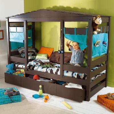 Construction lit cabane | Lit cabane | Pinterest | Lit cabane ...