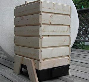 Wooden Stacking Worm Bin Worm Factory From Wood Worm Farms Much