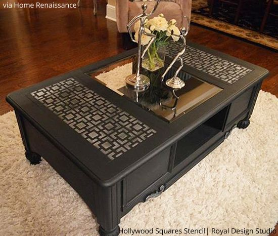 Perfect Stenciled Table Tops | Hollywood Squares | Royal Design Studio