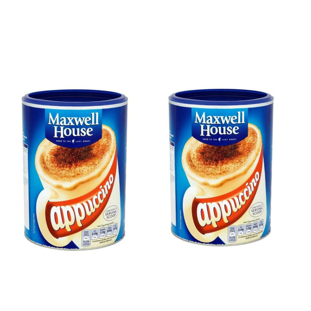 1.5 Kg Maxwell House Instant Cappuccino Coffee Large Tins