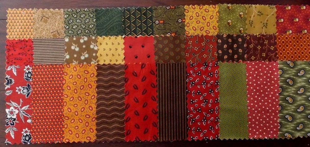 Three Yards Chanteclaire Quilt Fabric Redware III Series