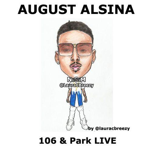 August alsina 106 park live caricatures portraits august alsina 106 park altavistaventures Choice Image