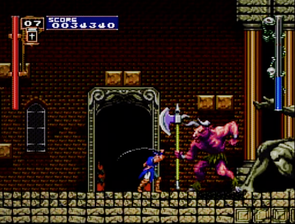 Castlevania Rondo of Blood third boss for the PC Engine