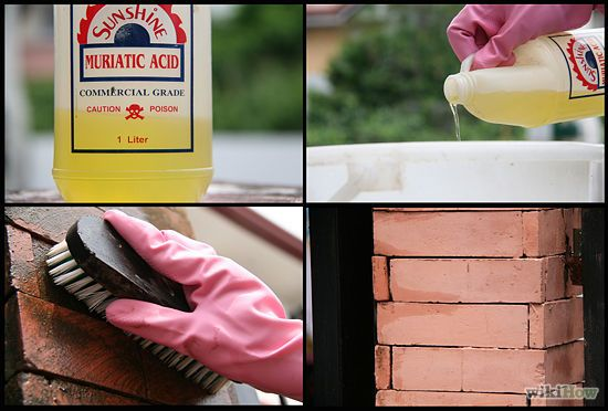 how to remove clay stains from brick