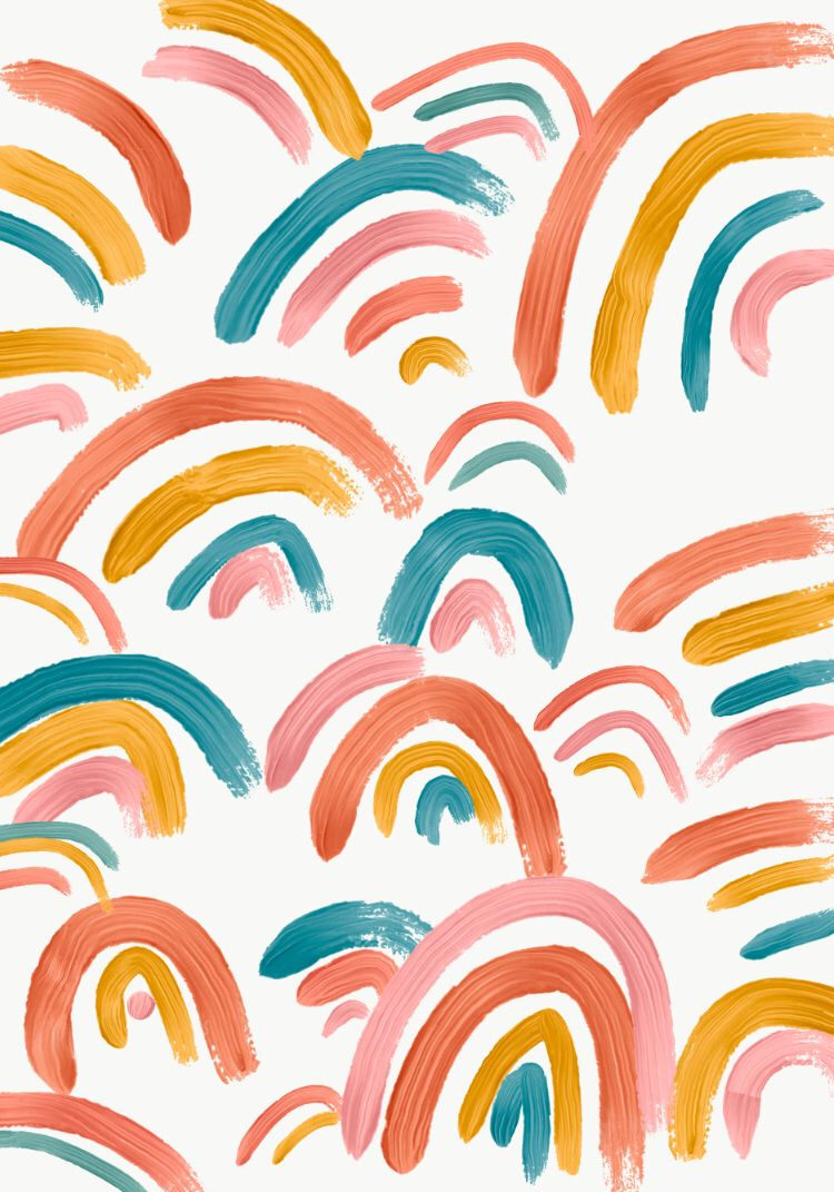 Cute Little Rainbow Background Design With Images Rainbow