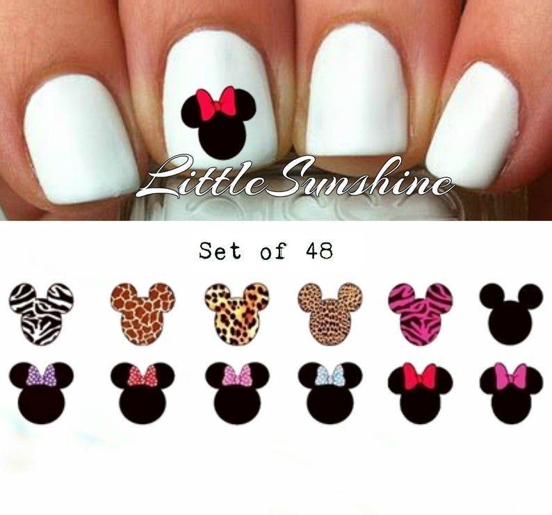 Mini Mouse Nails Nail Decal Nail Sticker Nail Art Nail Art Stickers Nail Art Decals Set Mini Mouse Nails Nail Decal Nail Sticker Nail Art Nail Art Stickers Nail Art Decal...