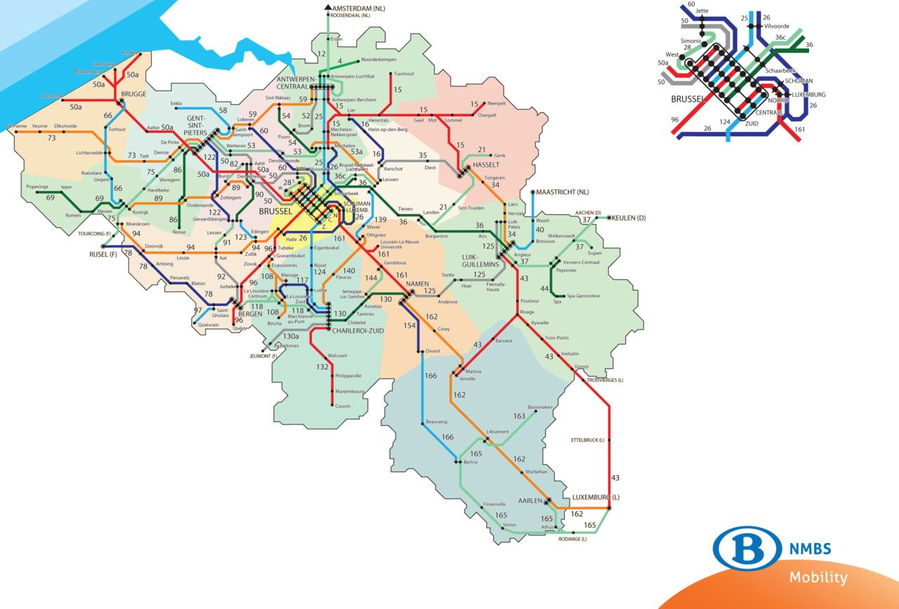 Train Map Belgium Belgium Rail Map | Euro Travel | Train map, Map, Belgium