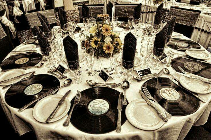 Vinyl record Music themed parties, 60th birthday party