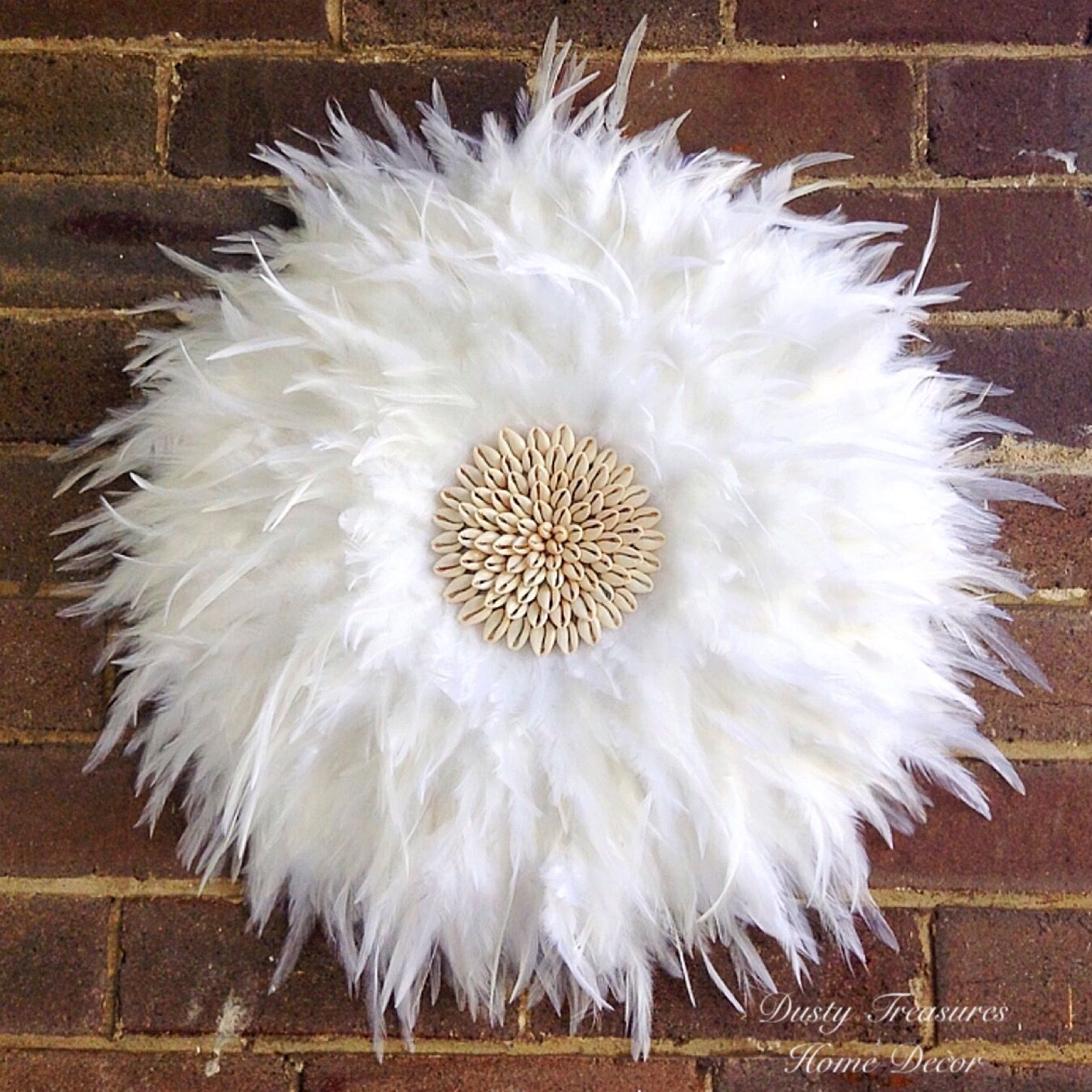 Pure White Real Feathers Juju Hat Wall Decor Designed And Hand Made By Dusty Treasures Home Decor Feather Wall Decor Feather Decor Juju Hat Decor