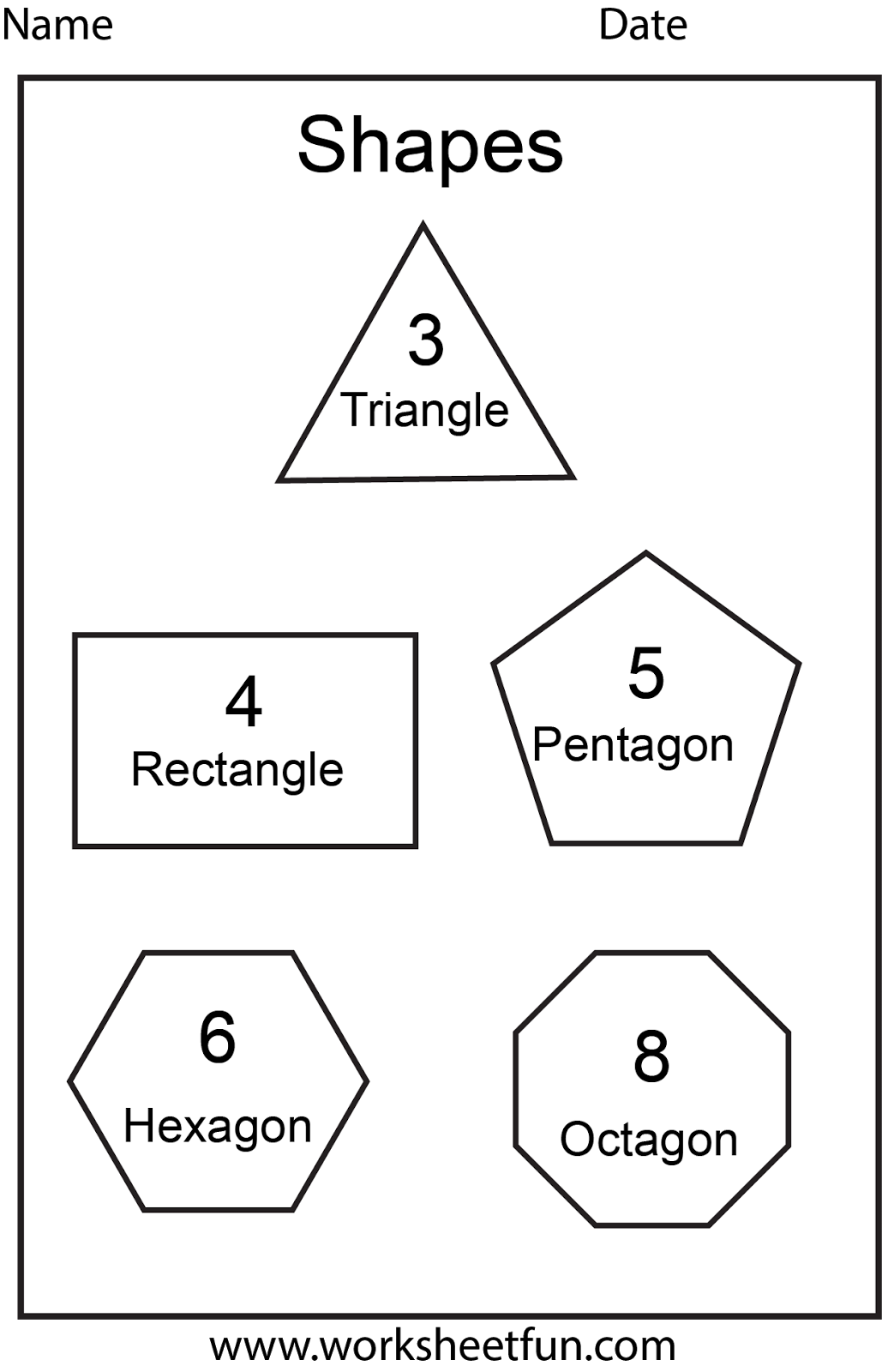 Octagon Worksheets For Preschoolers Worksheetfun