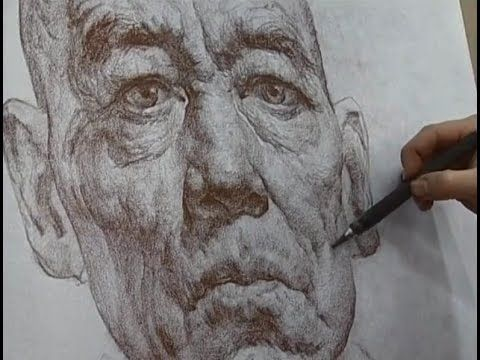 Line Drawing Portrait Artists : Summer drawing using line and value to create form