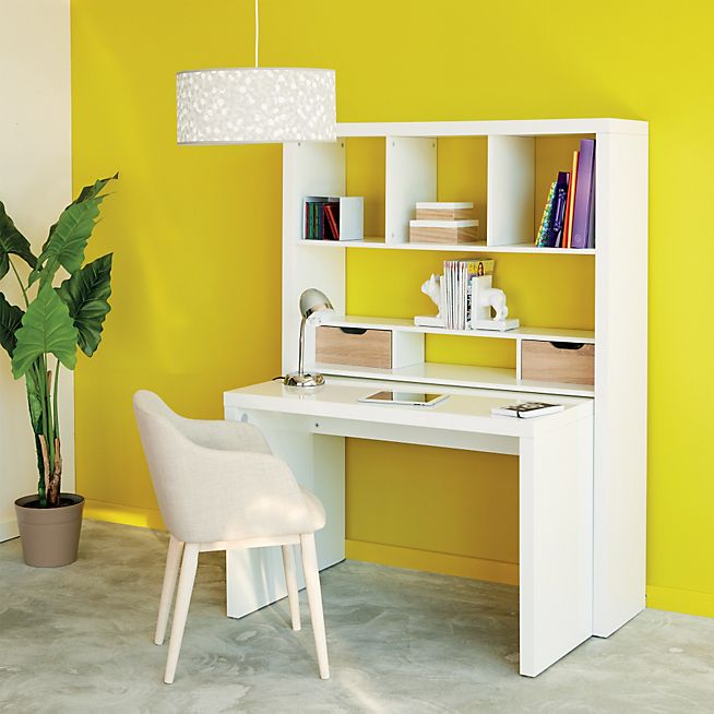 twisty bureau bureau modulable blanc avec tag res et tiroirs bureau modulable modulable et. Black Bedroom Furniture Sets. Home Design Ideas