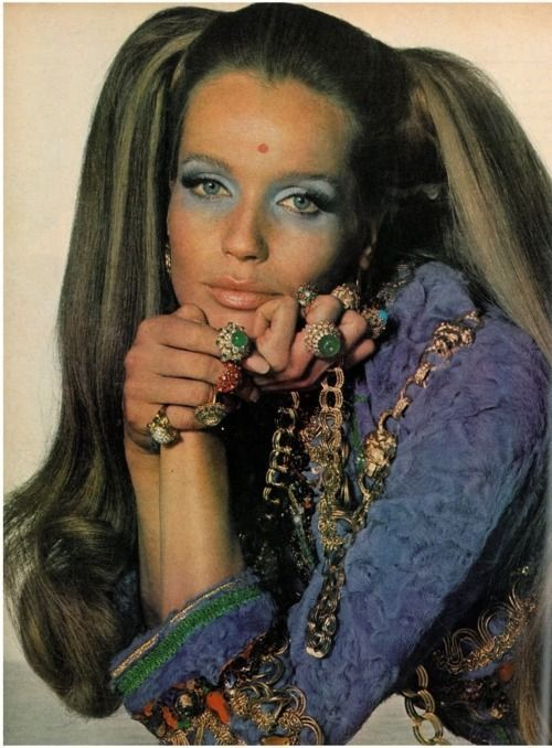 Hippie Fashion 1960s Makeup | 1960s Hippy Chic | 1960's | Pinterest