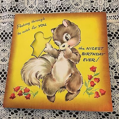 Vintage Greeting Card Birthday Squirrel Puzzle Vintage Birthday Birthday Greeting Cards Birthday Card For Aunt