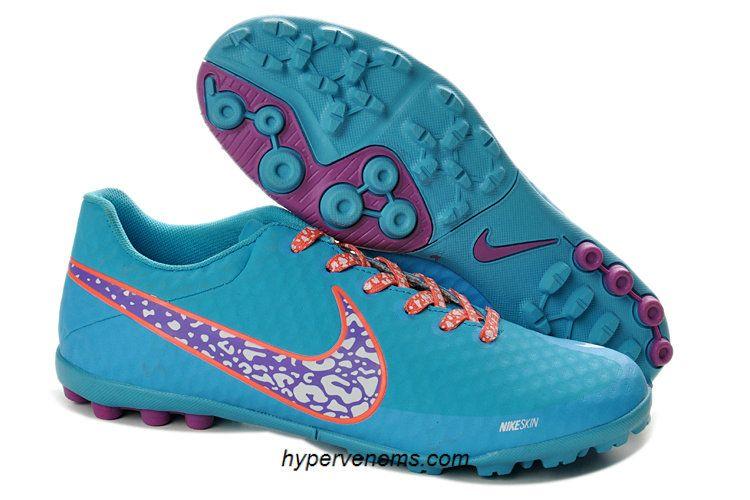 best service ecd71 4dd5a Nike Elastico Finale II Fives Soccer Shoes Skyblue Purple Orange