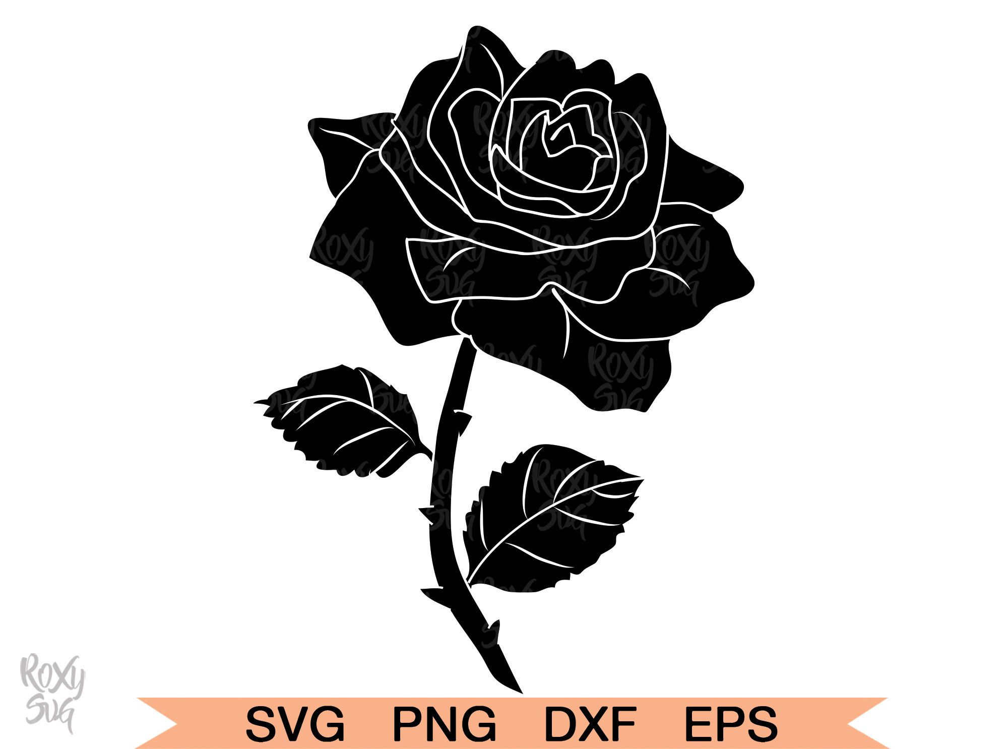 Rose Flower Svg Rose Clipart Rose Png Rose Clip Art Etsy In 2020 Rose Clipart Flower Svg Clip Art