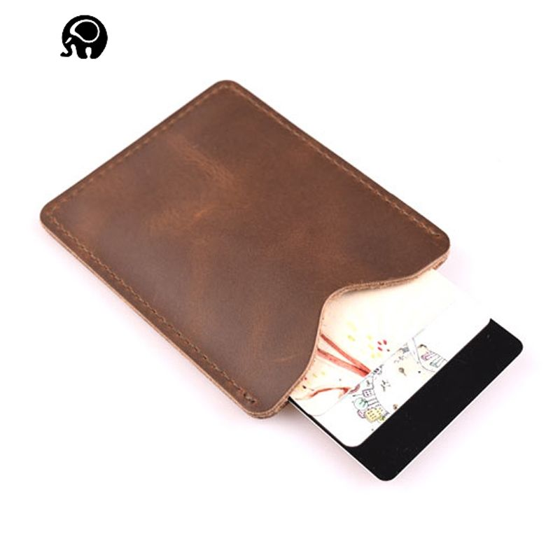Hand made Genuine Leather Men\'s Personalized Business Card Holder ...