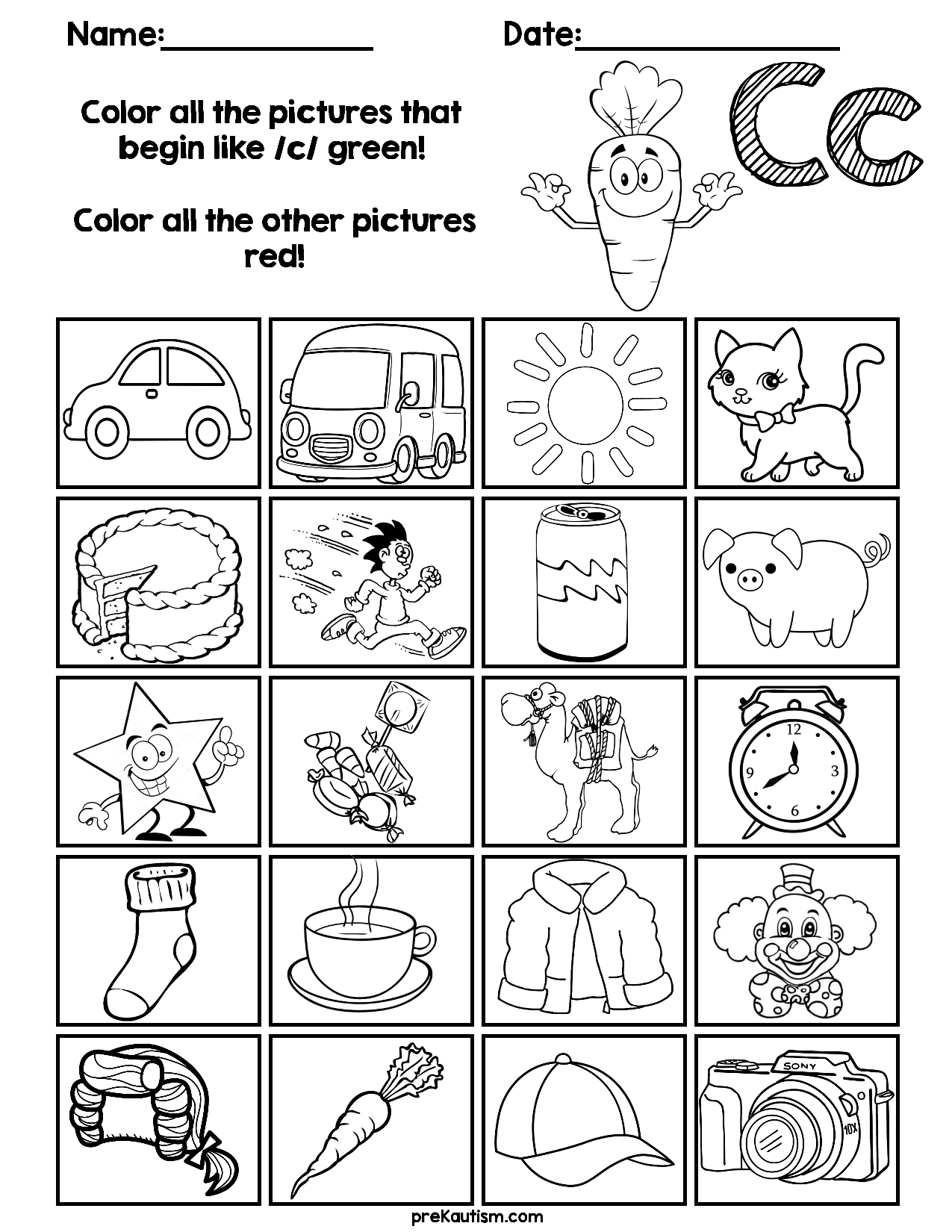 Find & Color Consonants Worksheets Grade r worksheets