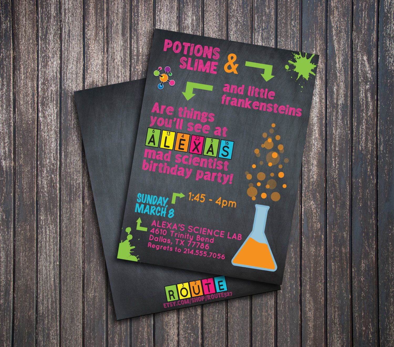 Science Party Scientist Party Pink Girl Birthday Party Invitation ...