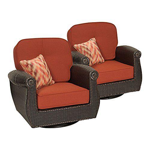 Breckenridge Swivel Rocker 2 Piece Patio Furniture Set (Brick Red) by La-Z-Boy  Outdoor For Sale https://patiofurnituresetsusa.info/breckenridge-swi… - Breckenridge Swivel Rocker 2 Piece Patio Furniture Set (Brick Red