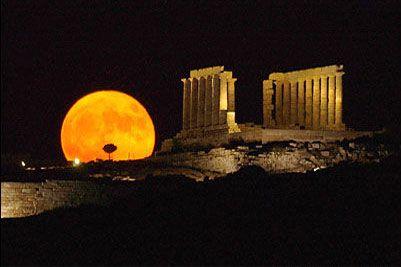 Poseidon Temple at Night