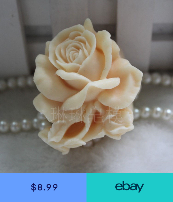 Rose Flower Silicone Soap Molds Candle Mold Soap Making