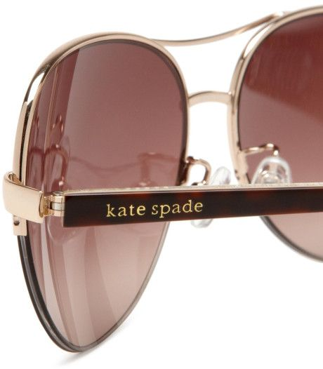 5e6029bde5a0 Buy discounted Kate Spade Ally Polarized Aviator Sunglasses, with a  lightweight durable metal frame,